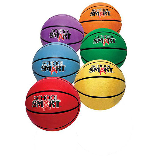 "School Smart 11"" Grade Balls Mini Rubber Basketball, Set of 6"