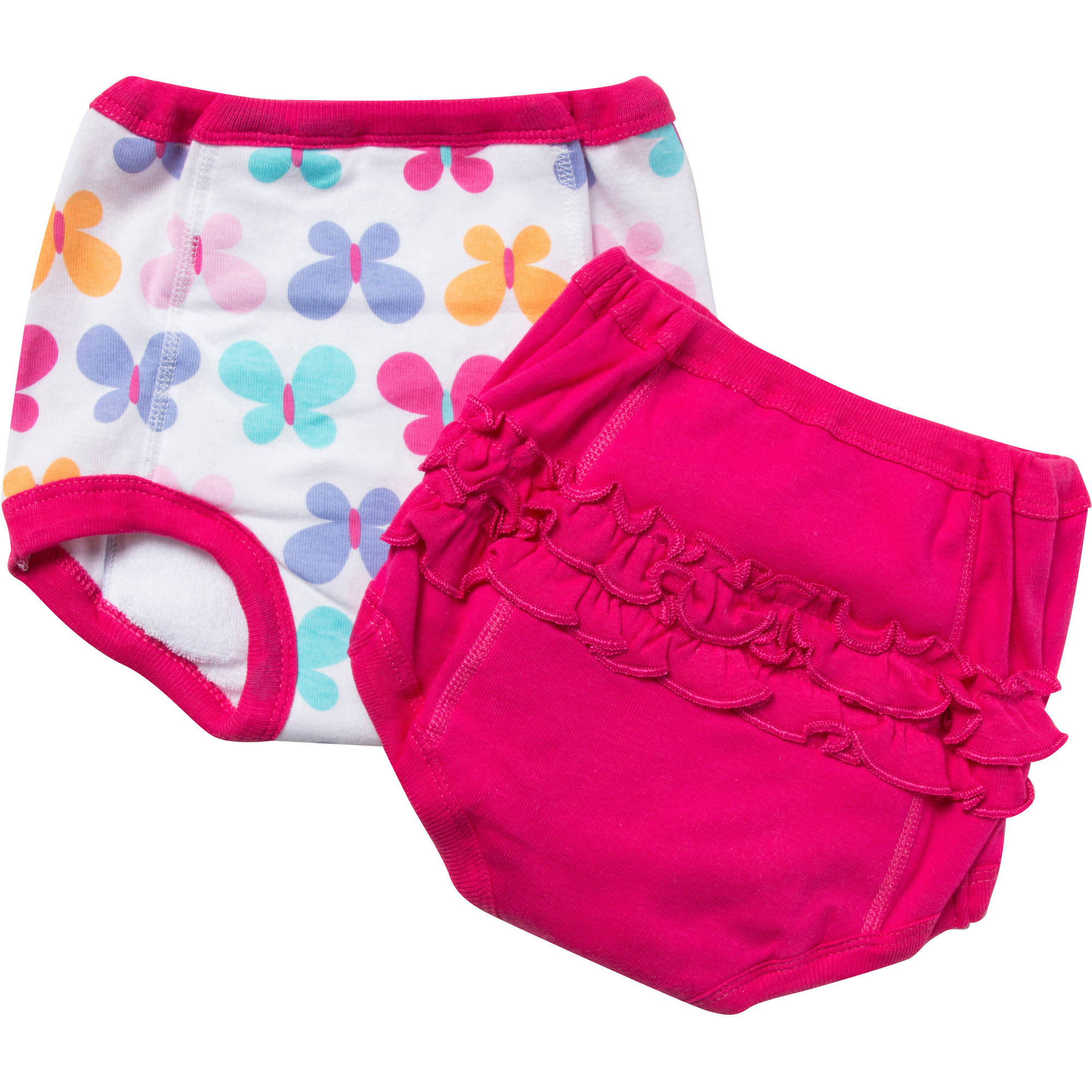 Gerber Toddler Girl's Training Pants With Terry & Peva Lining, 2-Pack