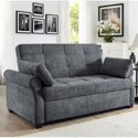 Serta Haiden Sofa Queen Bed with Upholstered Microfiber Fabric