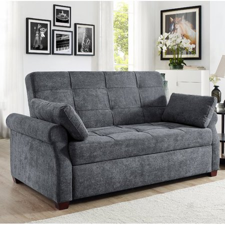 Serta Haiden Sofa Queen Bed With Upholstered Microfiber