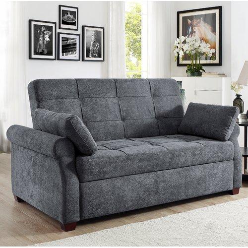 Serta Haiden Queen Sofa Bed, Gray