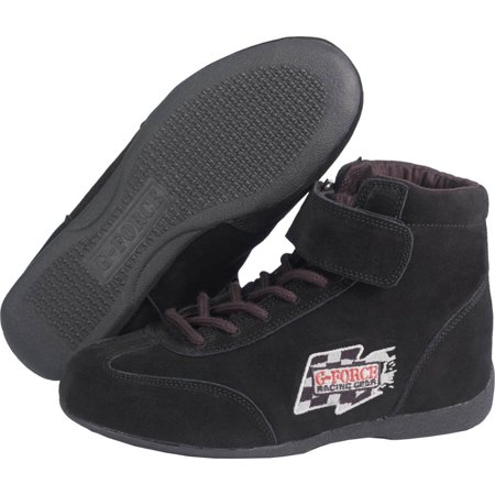 G-Force Size 6 Black Mid-Top GF235 RaceGrip Driving Shoes P/N (Gf235 Racegrip Mid Top Racing)