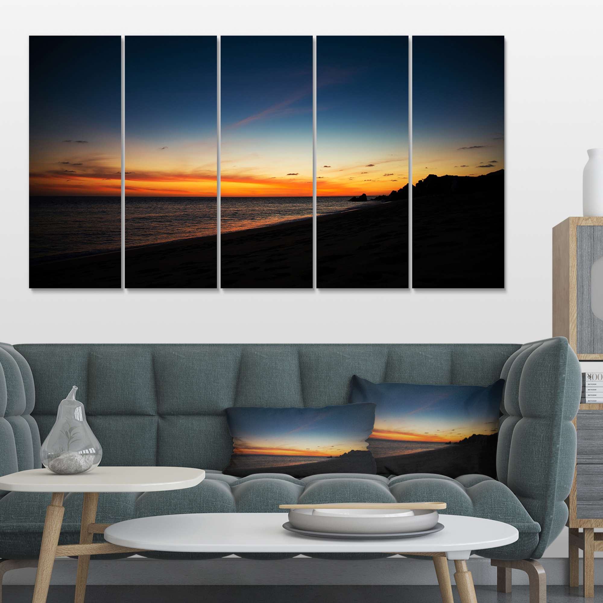 Sunset Over Beach in Cabo St.Lucas - Landscape Canvas Art Print - image 4 of 4