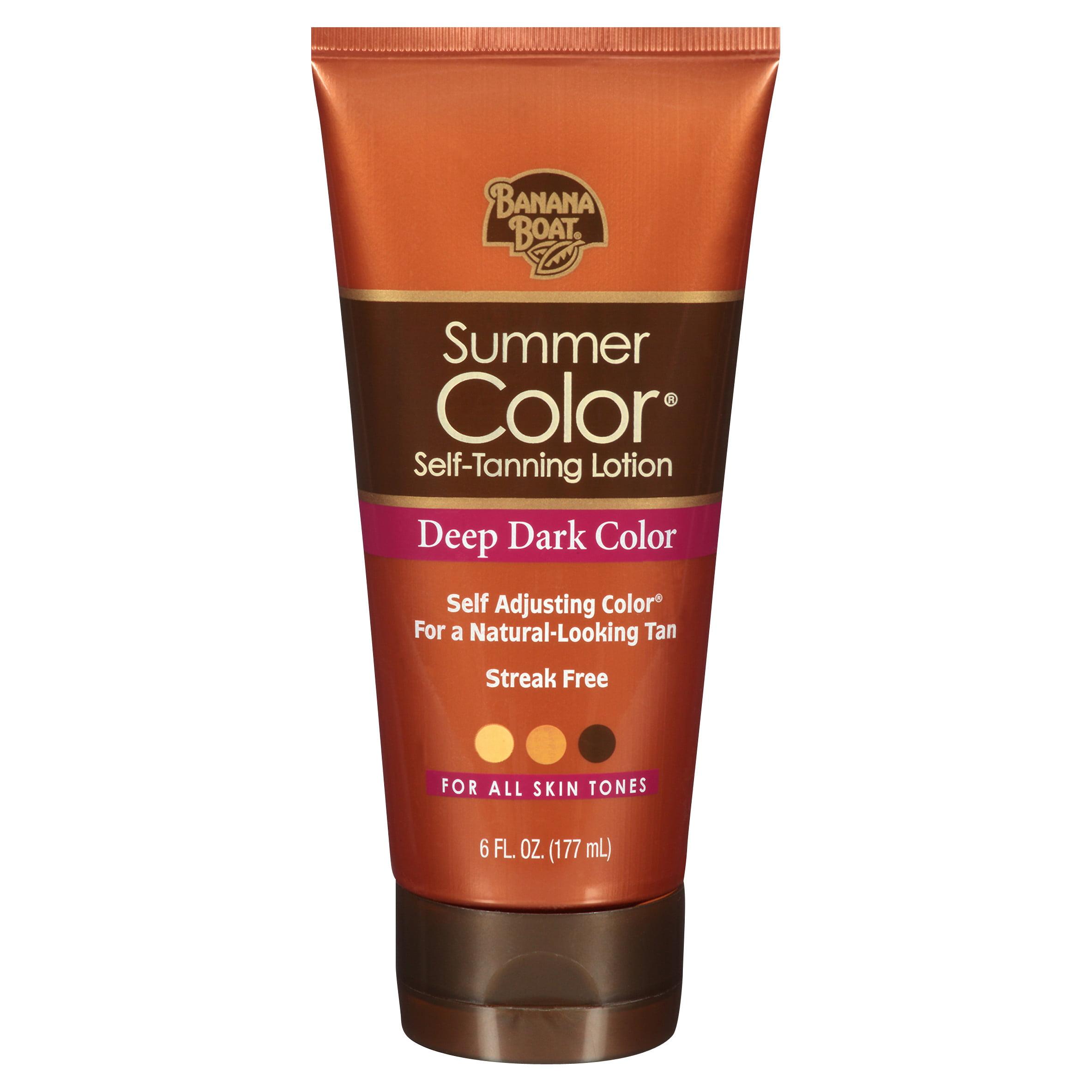 Banana Boat Summer Color Self-Tanning Lotion Deep Dark Color - 6 Ounces