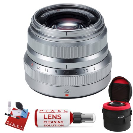 FUJIFILM XF 35mm f/2 R WR Lens (Silver) with Heavy Duty Lens