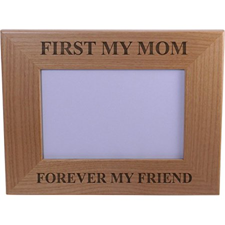 - First My Mom Forever My Friend Wood Picture Frame - Holds 4-inch x 6-inch Photo - Great Gift for Mothers's Day or Christmas