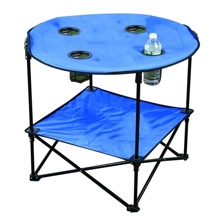 Folding Outdoor Picnic Table (Portable Camping Side Table for Outdoor Picnic, Beach, Games, Camp, and Patio Tables Folding with Carry Case for Traveling and Storage )