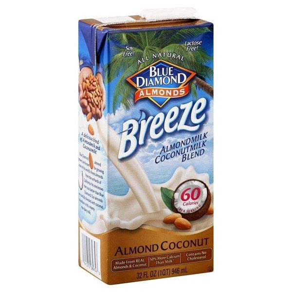 Blue Diamond Almond Breeze Almond Milk Coconut Milk Blend 32 oz Tetra Packs Pack of 6 by