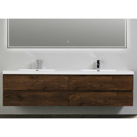 Morenobath MOB Wall Mounted Double Bathroom Vanity Set - 84 bathroom vanities and cabinets