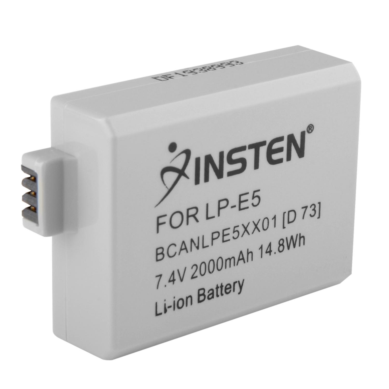 Insten Canon LP-E5 Compatible Li-Ion Battery For EOS Rebel Xsi XS T1i 450D 500D 1000D Kiss F X2 X3