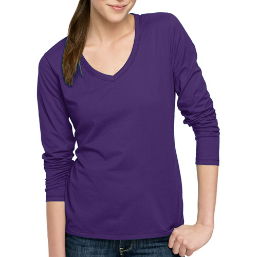 Hanes Women's Essential Long Sleeve V-neck T-Shirt