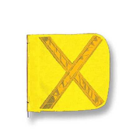 CHECKERS INDUSTRIAL PROD INC FS8025-16-Y Replacement Flag, Reflexite X, Yellow
