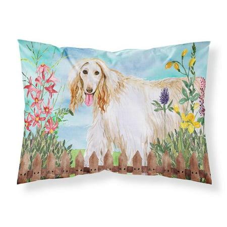 Carolines Treasures CK1264PILLOWCASE Afghan Hound Spring Fabric Standard Pillowcase - image 1 de 1
