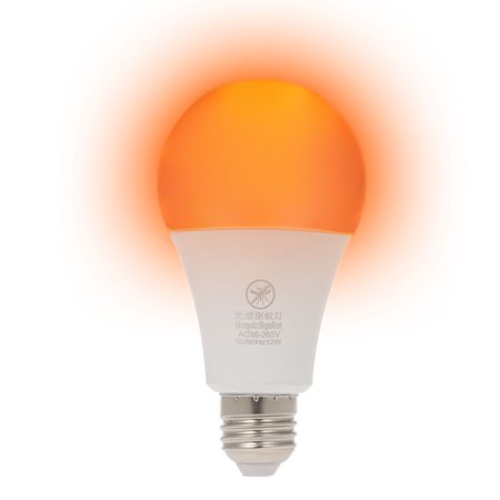 Yellow LED Bug Light Bulb No Blue Light Outdoor E26/27 15W Mosquito Repellent Light Bulb No UV 570-590nm Wavelength Night Light for Outdoor Indoor Long Service Life Energy Saving Light - image 7 of 7