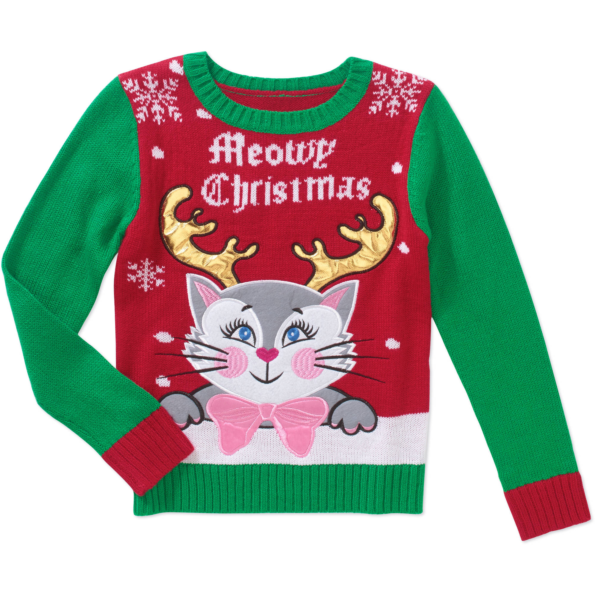 Holiday Time Girls' Holiday Sweater