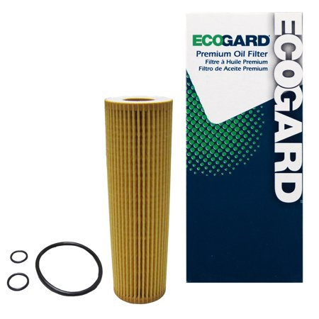 ECOGARD X10306 Cartridge Engine Oil Filter for Conventional Oil - Premium Replacement Fits Mercedes-Benz C250, SLK250