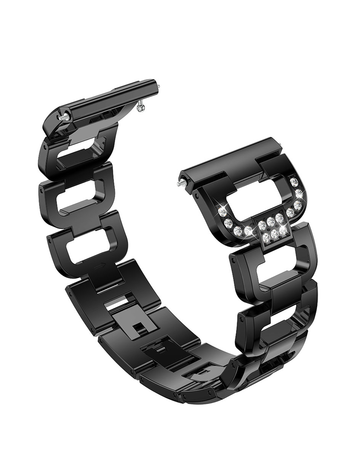"""Fashion Bling Band for Fitbit Versa, Premium Stainless Steel Metal Watch Replacement Strap Bracelet for Fitbit Versa Fitness Wristband, Fits 5.1""""-8.1"""""""