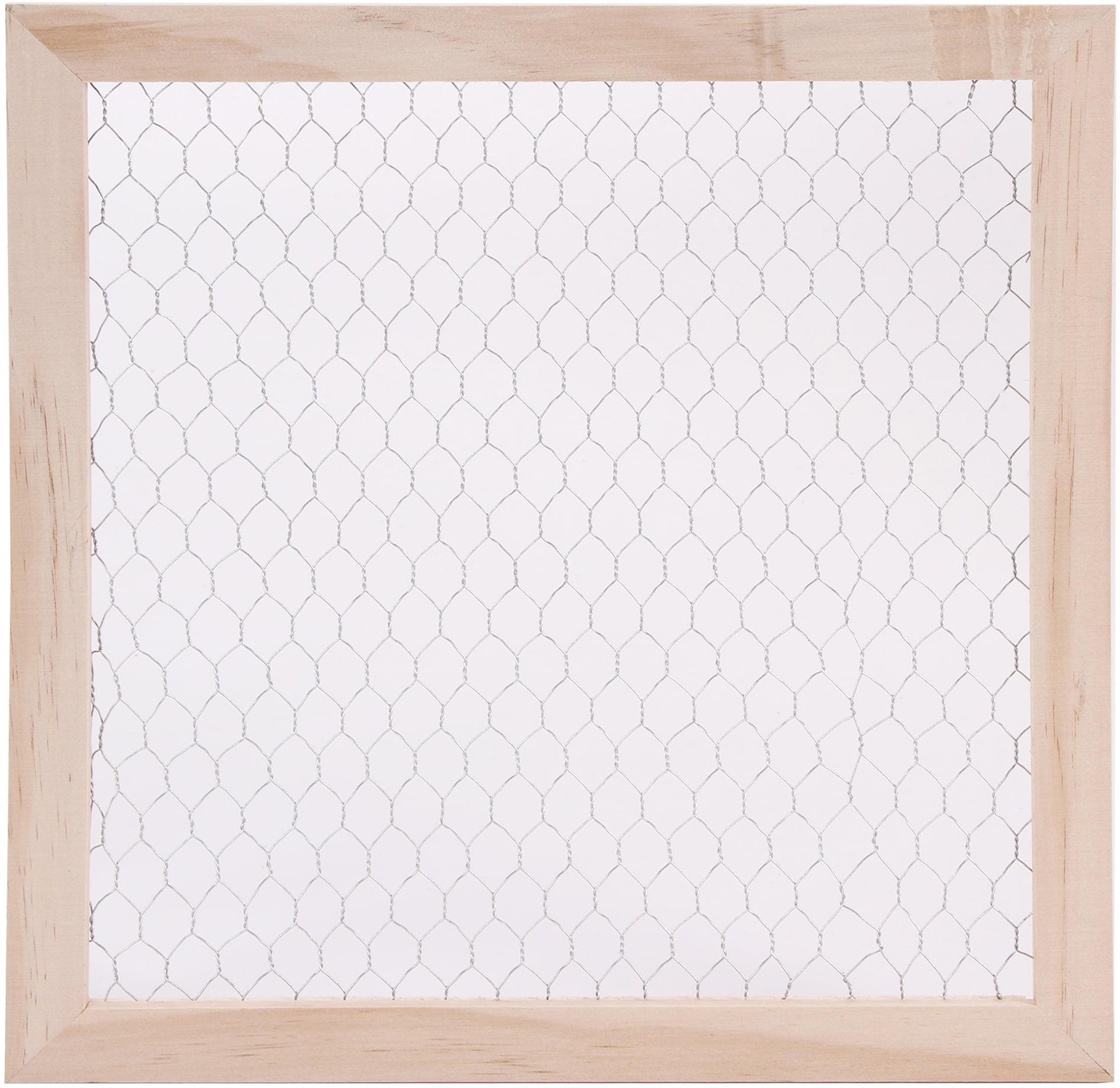 Wood Chicken Wire Frame-12\