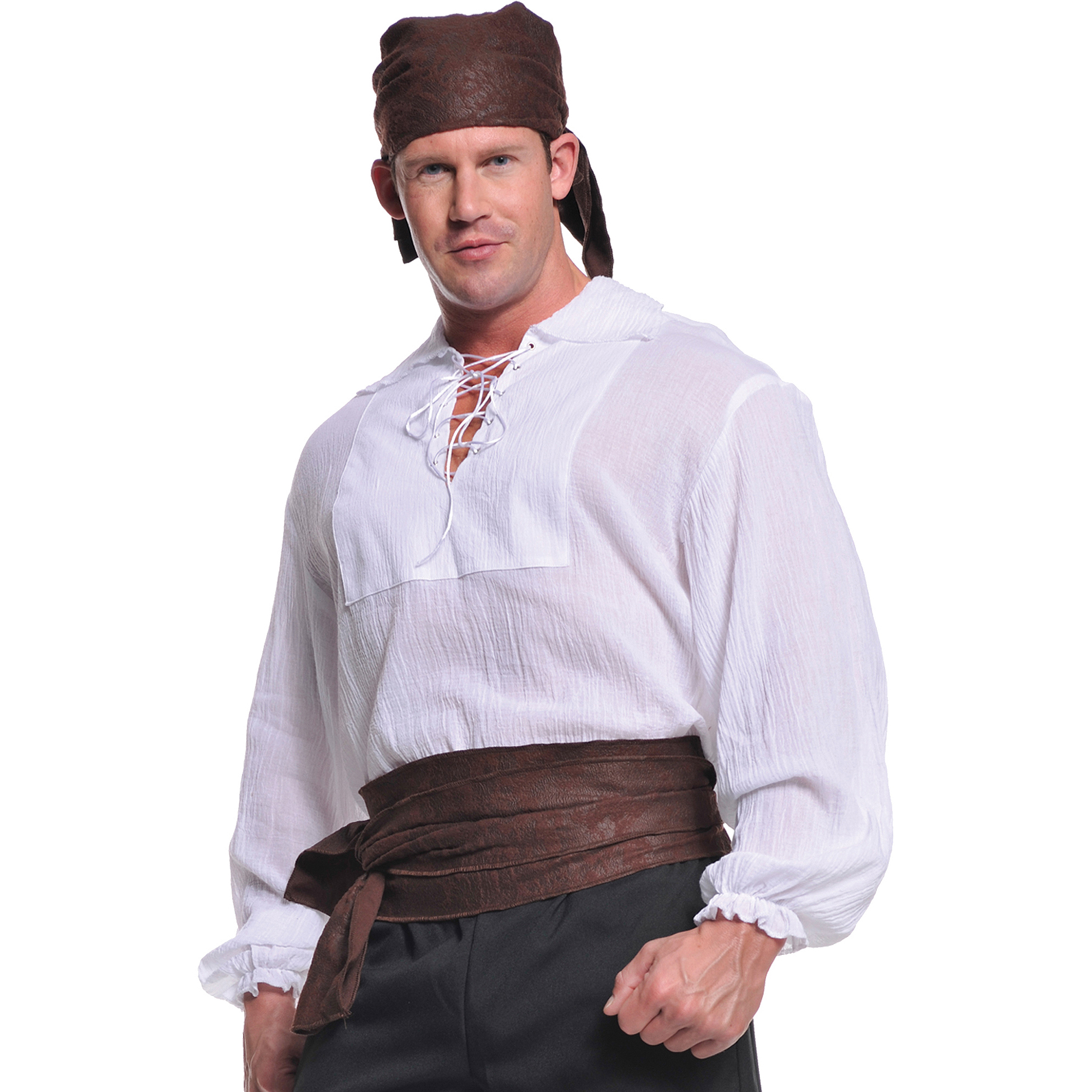 Cream Pirate Shirt Adult Halloween Costume