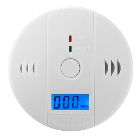 M.way 1-50x Carbon Monoxide Detector Alarm Sensor CO Fire Smoke Warning Home LCD Portable security ,Battery Powered (Battery not included)