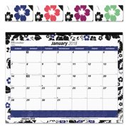Blueline Fashion Monthly Desk Pad Calendar, 22 x 17, 2018