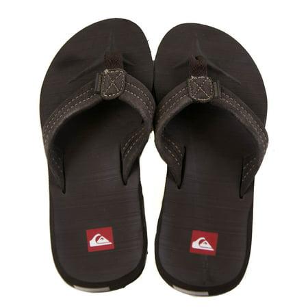 Quiksilver Carver Suede 2 RT Men's Sandal Thongs Brown