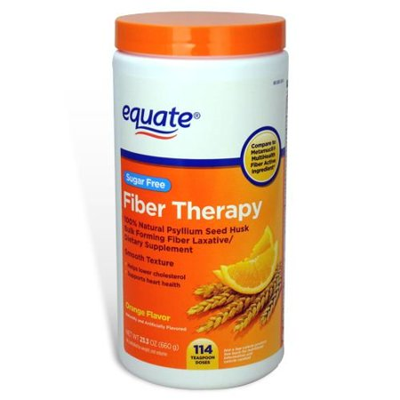 Equate Daily Fiber Orange Smooth Fiber Powder, 48.2 oz