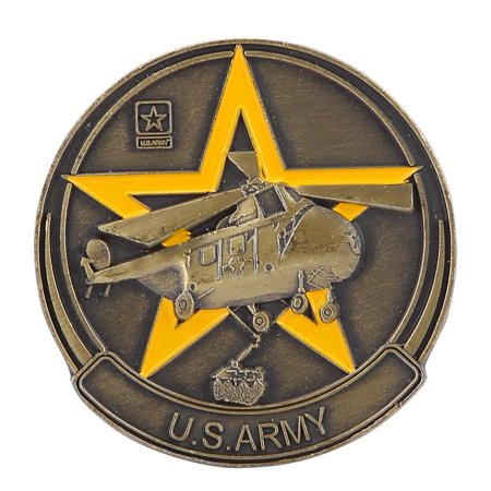 TOPINCN 40*3mm US Army Weapon Pattern Commemorative Metal Bronze Coin Collection,US Army Coin, Bronze Coin - image 7 de 8