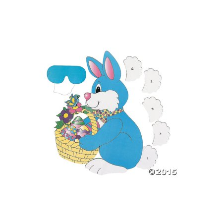 Pin The Tail On The Bunny - PIN the TAIL on the EASTER BUNNY/Spring PARTY GAME/Party ACTIVITY/New in Package w/INSTRUCTIONS/Blindfold, Pin the TAIL on the BUNNY Game By OTC