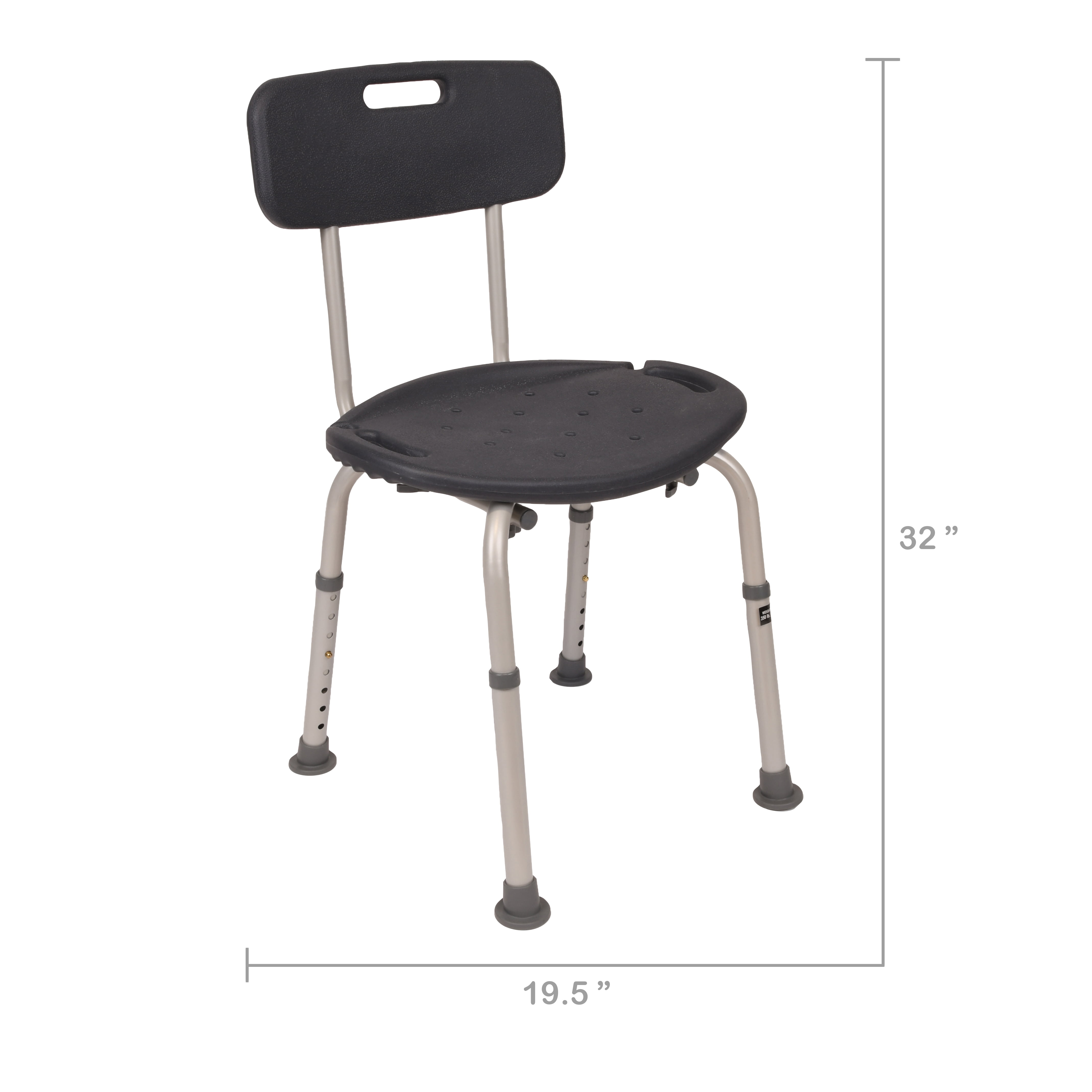 Equate Bath Chair Shower Seat With Back Walmart Com