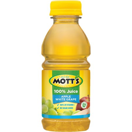 (6 Bottles) Mott's 100% Apple White Grape Juice, 8 fl