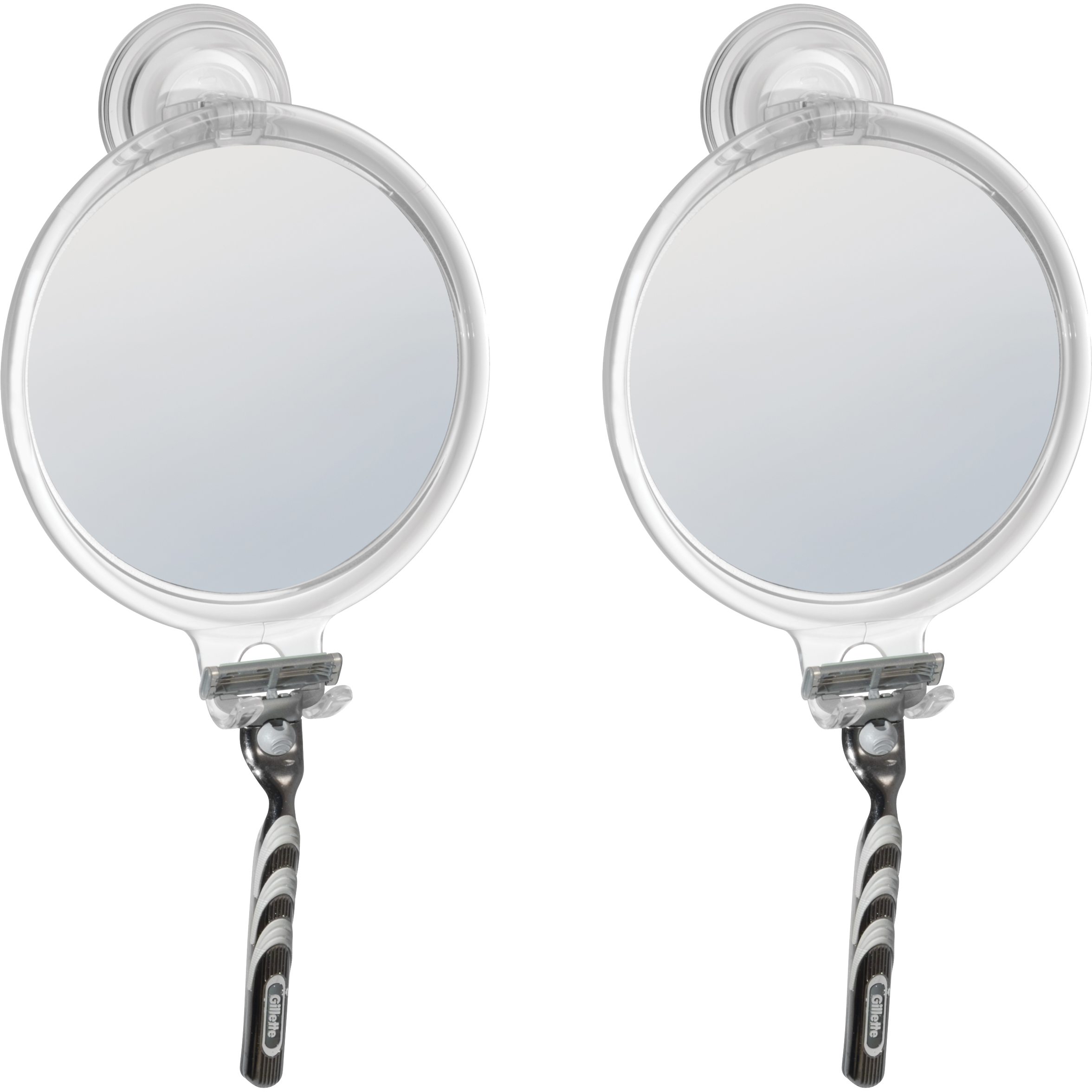 (2 Pack) Suction Fog-Free Mirror