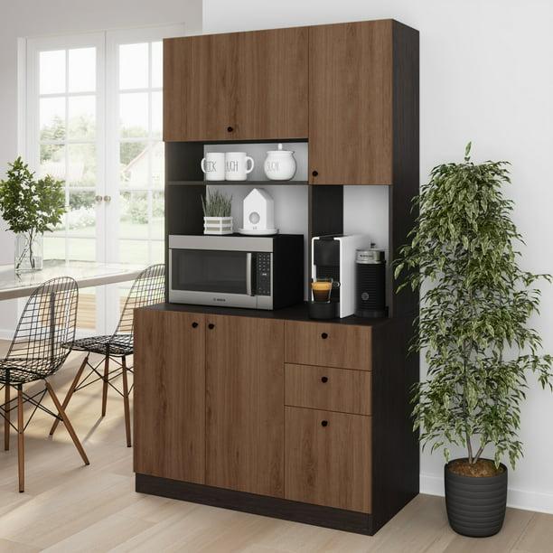 Living Skog Pantry Kitchen Storage Cabinet Large Black ...