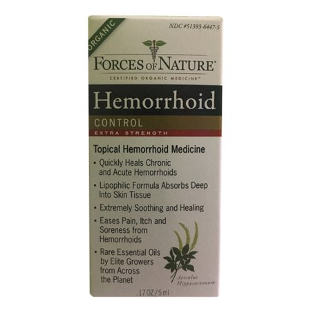 Forces Of Nature Hemorrhoid Control Extra Strength, 5