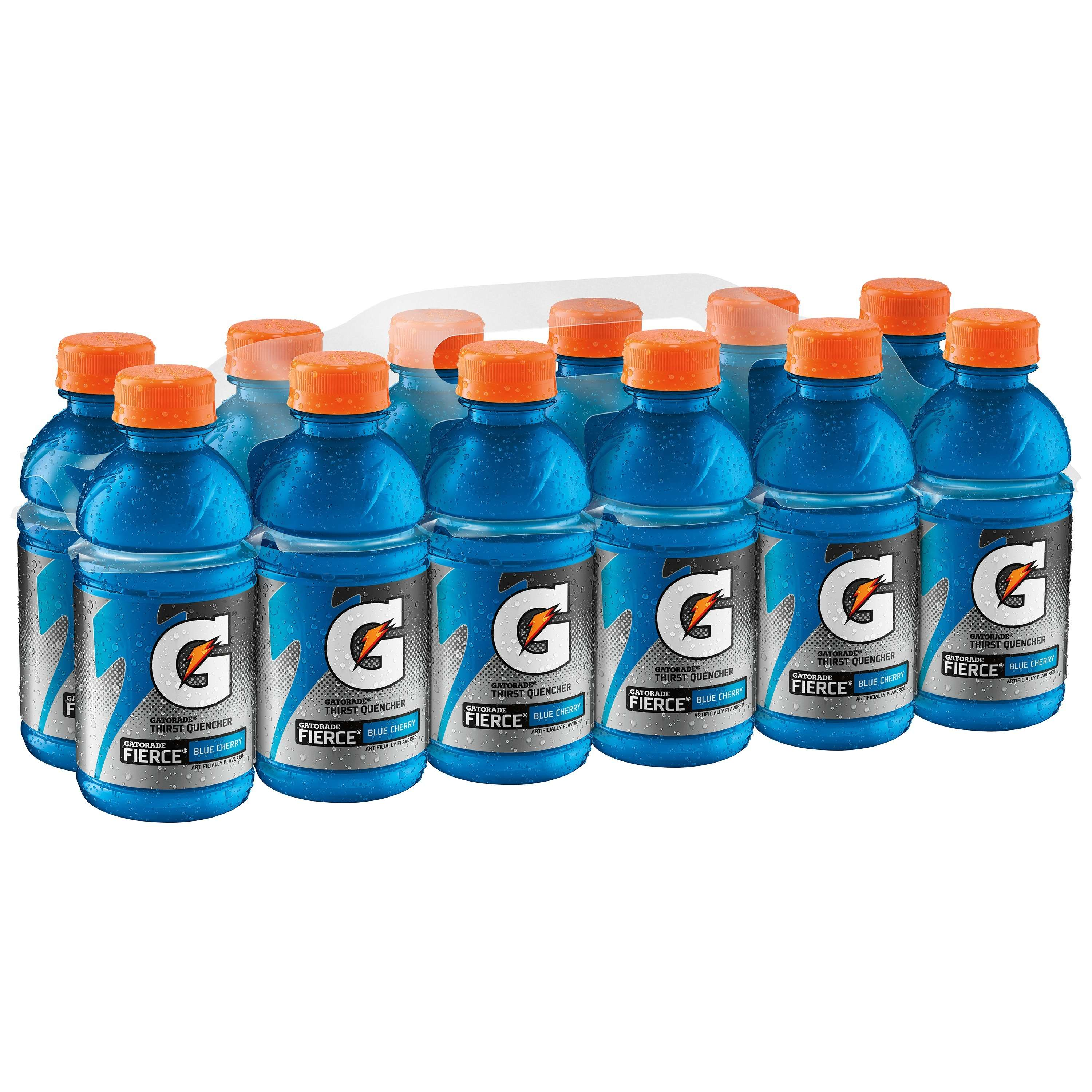 Gatorade Thirst Quencher Fierce Sports Drink, Blue Cherry, 12 Fl Oz, 12 Count