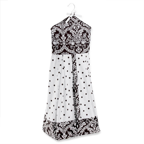 Seed Sprout - Damask Diaper Stacker, Black and White