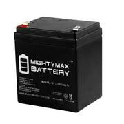 12V 5AH Battery for Honewell HPS123 Power Supply + 12V 1Amp Charger