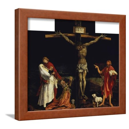 Right Outdoor Art (Isenheimer Altar. First Right Side, Centre Panel: Crucifixion Framed Print Wall Art By Matthias Grünewald )