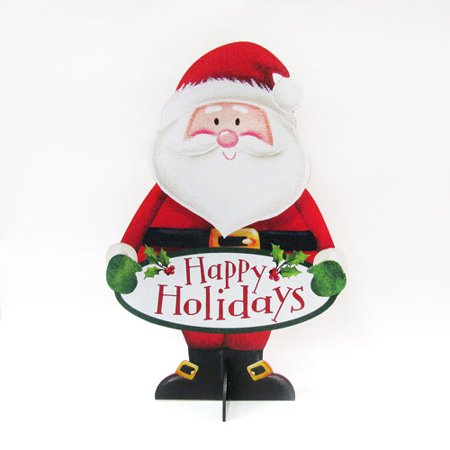 24 indooroutdoor porch santa decoration - Indoor Christmas Decorations Walmart