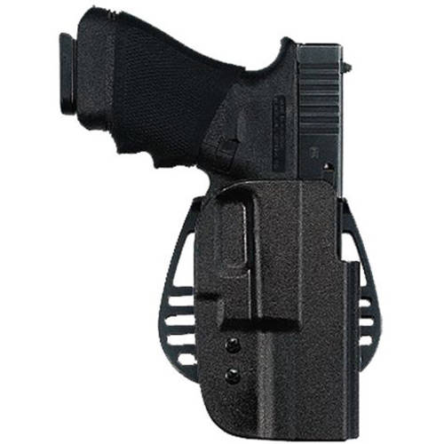 Uncle Mike's 5412-1 Kydex Paddle Open Top 12, Black Kydex