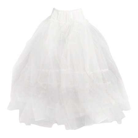 Angels Garment Girls White Multiple Layered Petticoat Underskirt (Layer Petticoat)