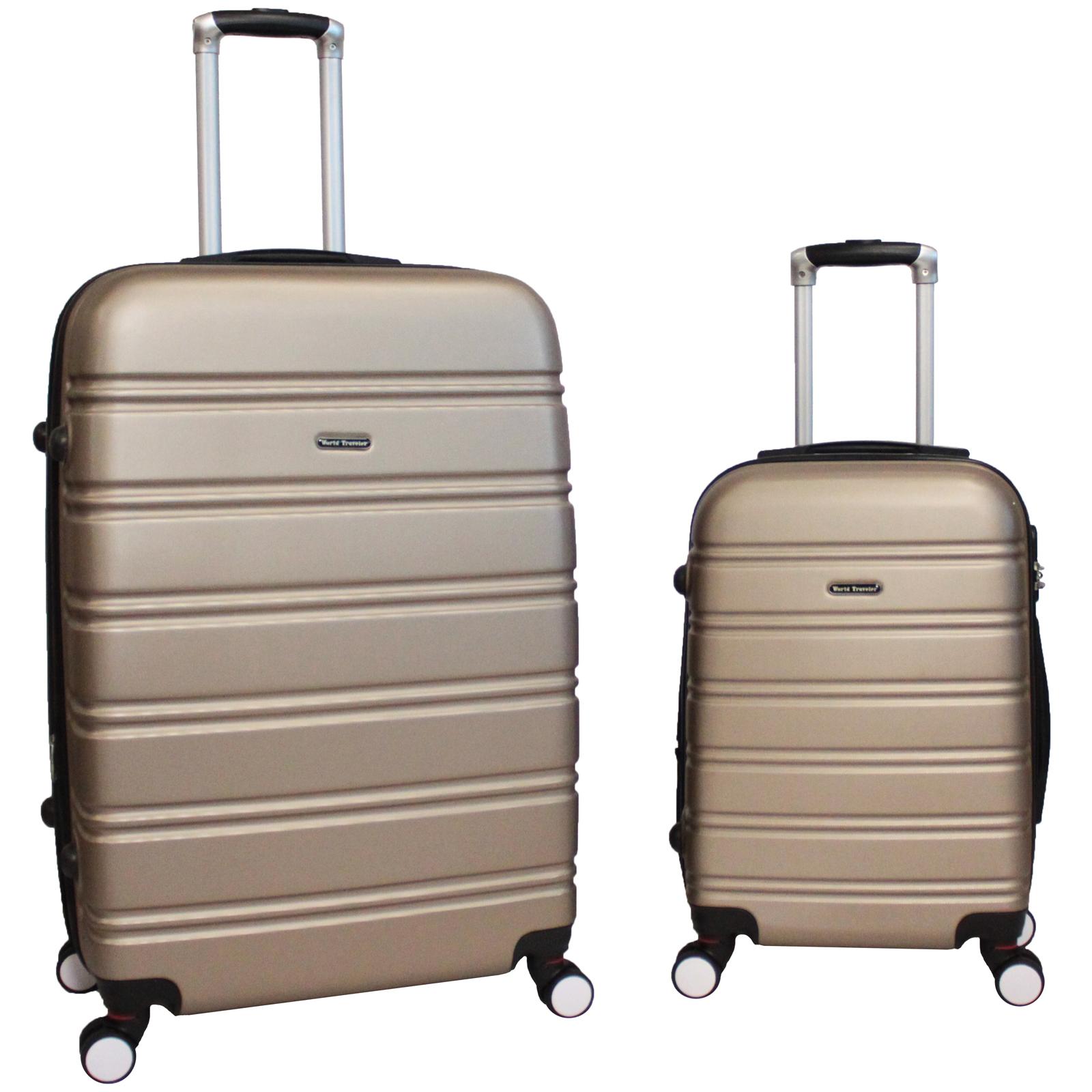 World Traveler Bristol 2-Piece Hardside Expandable Spinner Luggage ...