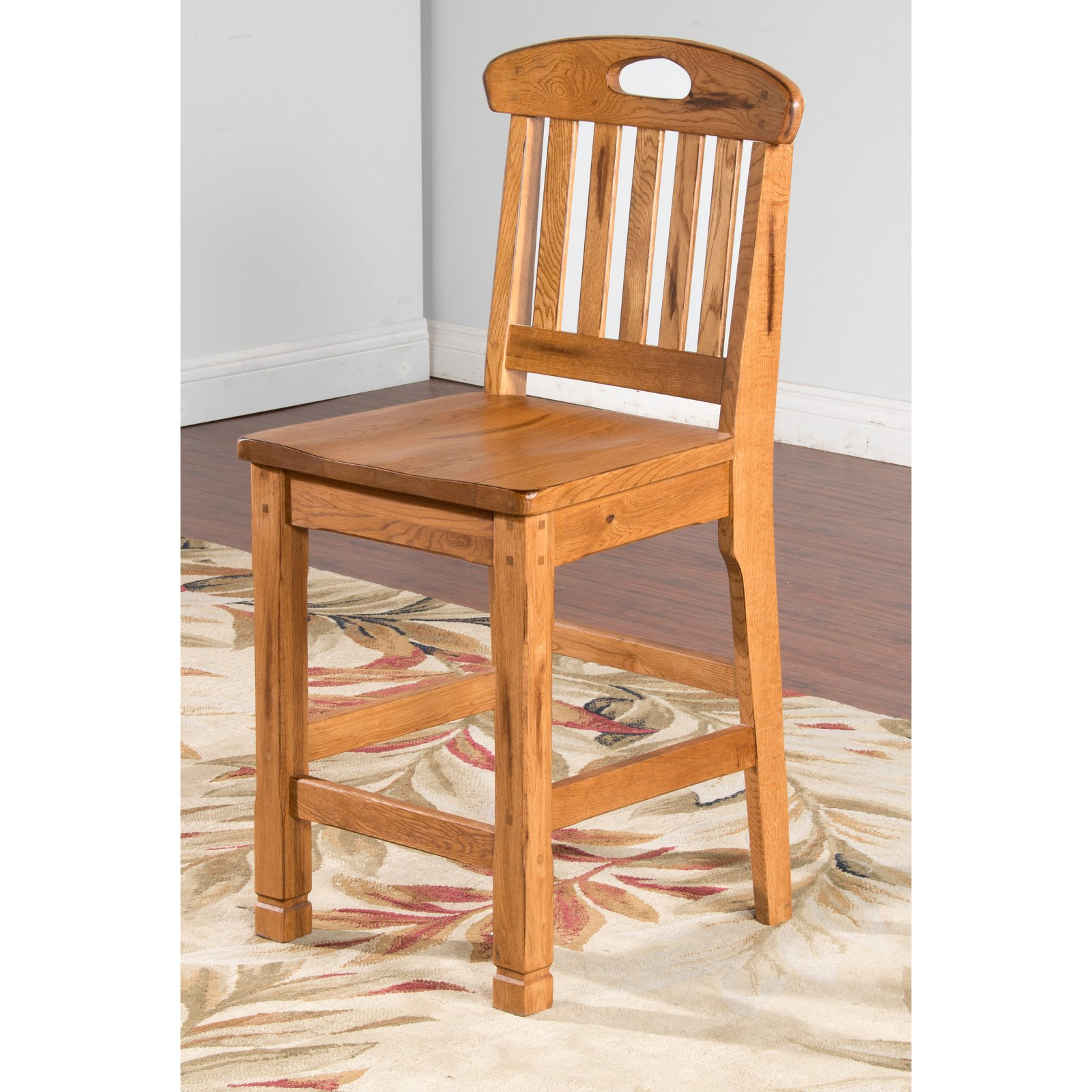 Sunny Designs Sedona 24 in. Slat Back Counter Stool