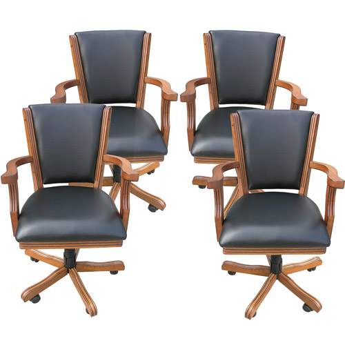Hathaway Kingston Poker Table Arm Chair, Set of 4