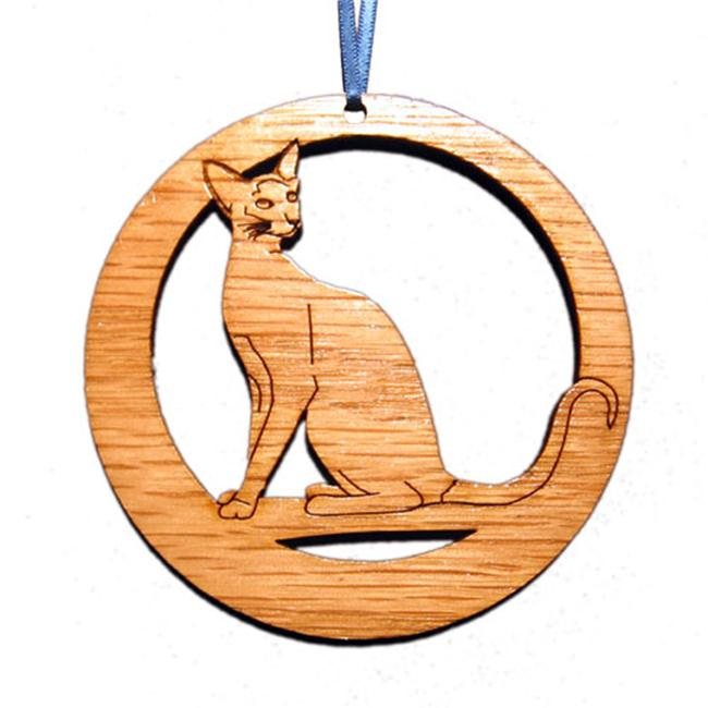 CAMIC designs CAT003N Laser-Etched Siamese Cat Ornaments - Set of 6