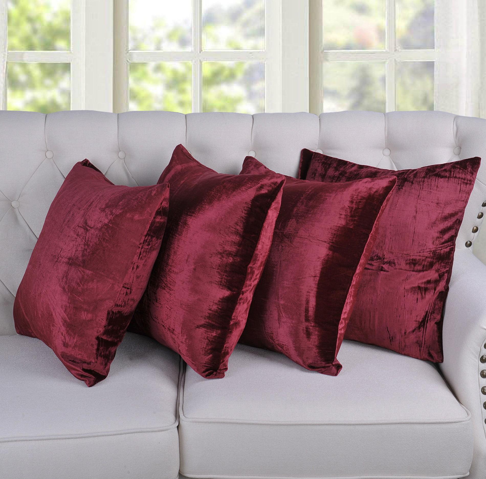 Flannel Velvet (Velvet Rayon) Pillow Shell Set 4 Piece