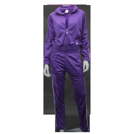 Soffe 3265510MED Adult Brush Tricot Zip Jacket, New Purple - -