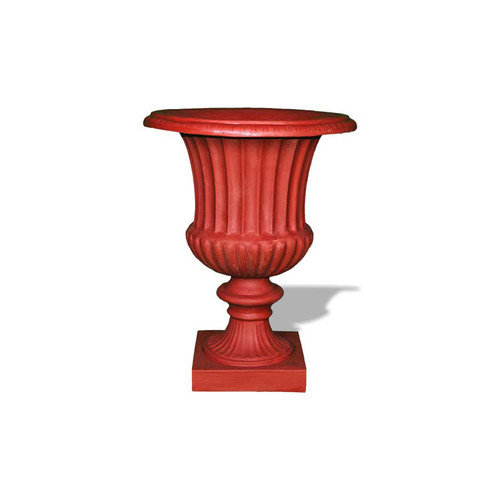 Amedeo Design ResinStone Classic Ribbed Urn Planter