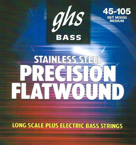 GHS Precision Flatwound Bass Long Scale Plus Medium 45-105 by GHS