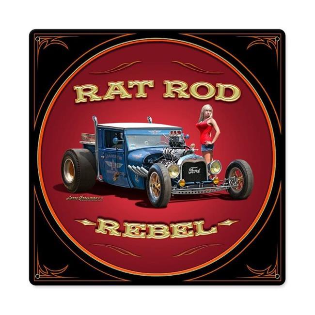 Larry Grossman LG464 Rat Rod Rebel Metal Sign - image 1 de 1